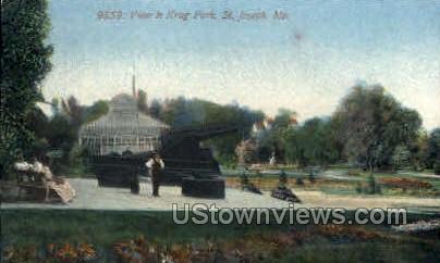 View in Krug Park - St. Joseph, Missouri MO Postcard