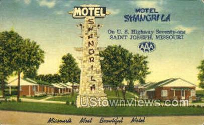 Motel Shangrila - St. Joseph, Missouri MO Postcard