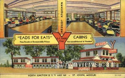 Eads for Eats Cabins - St. Joseph, Missouri MO Postcard