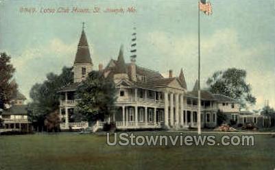 Lotus Club House - St. Joseph, Missouri MO Postcard