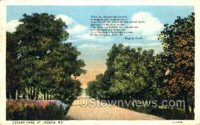 Lovers Lane - St. Joseph, Missouri MO Postcard
