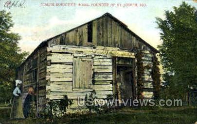 Joseph Robioux's Home - St. Joseph, Missouri MO Postcard