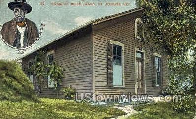 Home of Jesse James - St. Joseph, Missouri MO Postcard