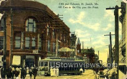 Fifth and Edmond - St. Joseph, Missouri MO Postcard