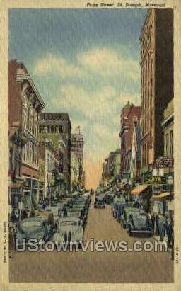 Felix Street - St. Joseph, Missouri MO Postcard