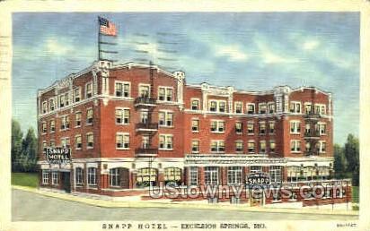 Snapp Hotel - Excelsior Springs, Missouri MO Postcard