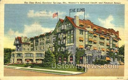 Elms Hotel - Excelsior Springs, Missouri MO Postcard