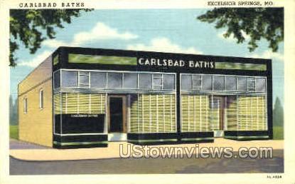 Carlsbad Baths - Excelsior Springs, Missouri MO Postcard