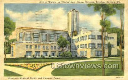 Missouri's National Health - Excelsior Springs Postcard