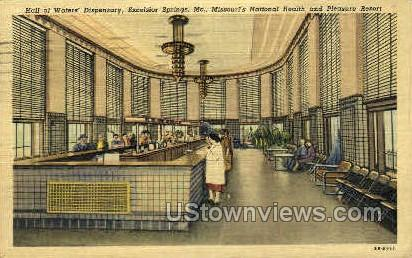 Hall of Waters' Dispensary - Excelsior Springs, Missouri MO Postcard