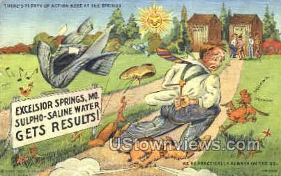 Sulpho-Saline Water, Get Results - Excelsior Springs, Missouri MO Postcard