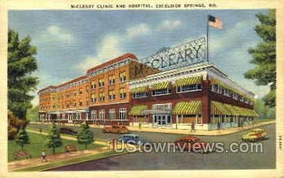 McCleary Clinic and Hospital - Excelsior Springs, Missouri MO Postcard
