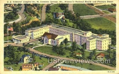 U. S. Veterans' Hospital - Excelsior Springs, Missouri MO Postcard