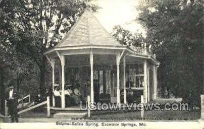 Sulpho-Saline Spring - Excelsior Springs, Missouri MO Postcard