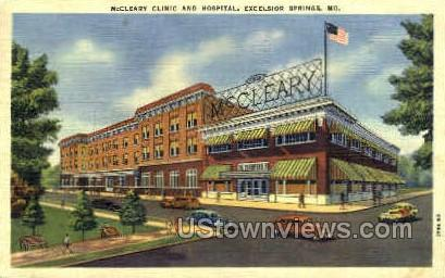 McCleary Hospital - Excelsior Springs, Missouri MO Postcard