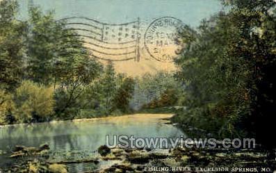 Fishing River - Excelsior Springs, Missouri MO Postcard