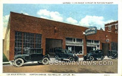 Largest Fire-proof Garage - Joplin, Missouri MO Postcard