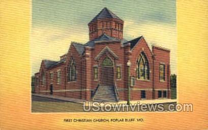 First Christian Church - Poplar Bluff, Missouri MO Postcard