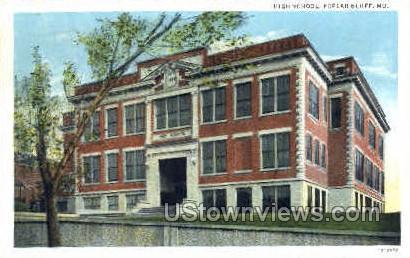High School - Poplar Bluff, Missouri MO Postcard