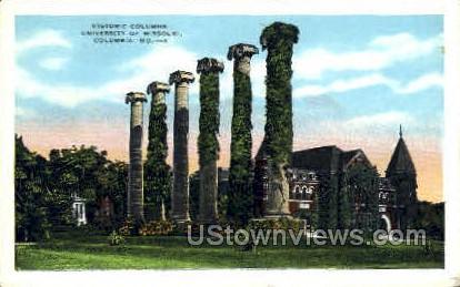 Historic Columns - Columbia, Missouri MO Postcard