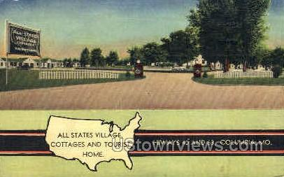 All States Village - Columbia, Missouri MO Postcard