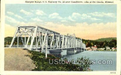 Niangua Bridge - Lake of the Ozarks, Missouri MO Postcard