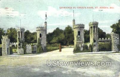Krug's Park - St. Joseph, Missouri MO Postcard