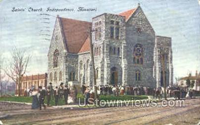 Saints' Church - Independence, Missouri MO Postcard