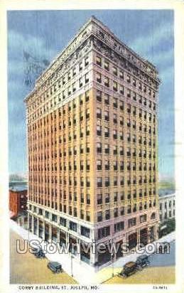 Corby Building - St. Joseph, Missouri MO Postcard