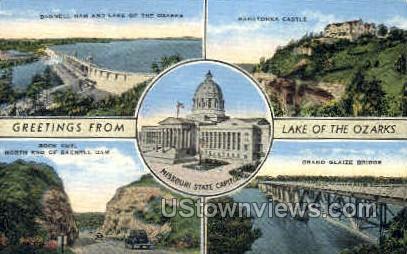 Lake of the Ozarks - Missouri MO Postcard