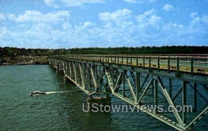 Famous Upside-Down Bridge - Lake of the Ozarks, Missouri MO Postcard
