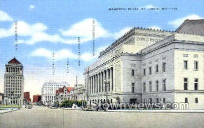memorial Plaza - St. Louis, Missouri MO Postcard