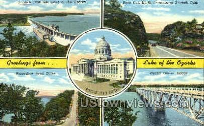 Lake of the Ozarks, MO, Missouri Postcard