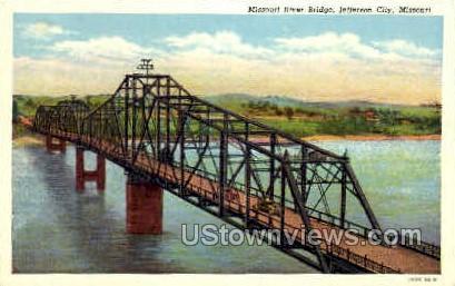 River Bridge - Jefferson City, Missouri MO Postcard