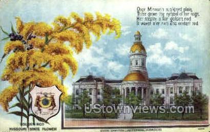 State Capitol Poem - Jefferson City, Missouri MO Postcard
