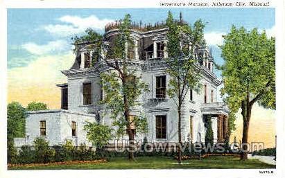 Mansion - Jefferson City, Missouri MO Postcard