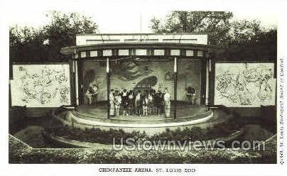 Chimpanzee Arena - St. Louis, Missouri MO Postcard