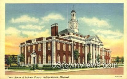 Court House - Independence, Missouri MO Postcard