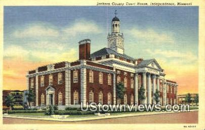 Jackson County Court House - Independence, Missouri MO Postcard
