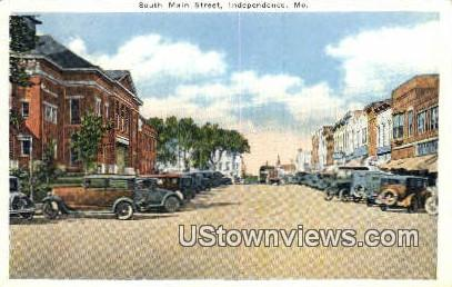 South Main Street - Independence, Missouri MO Postcard