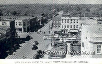 Liberty Street - Independence, Missouri MO Postcard