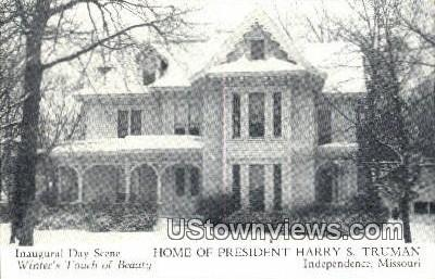 Home of President Harry S. Truman - Independence, Missouri MO Postcard