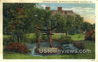 Japanese Garden, University of Missouri - Columbia Postcard