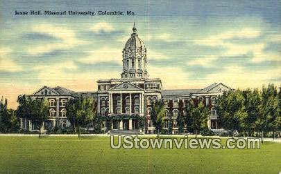 Jesse Hall, Admin Bldg, University of Missouri - Columbia Postcard