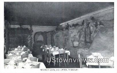 Wigman Caf» - Columbia, Missouri MO Postcard