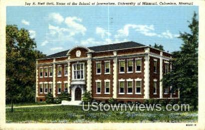 Jay H. Neff Hall, University of Missouri - Columbia Postcard