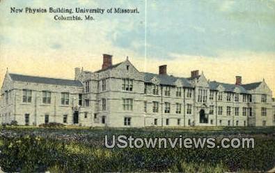 New Physics Bldg, University of Missouri - Columbia Postcard