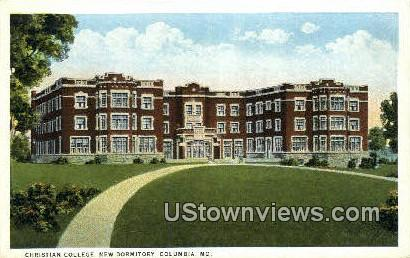 Christian College, New Dorm - Columbia, Missouri MO Postcard