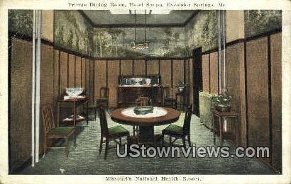 Hotel Snapp - Excelsior Springs, Missouri MO Postcard