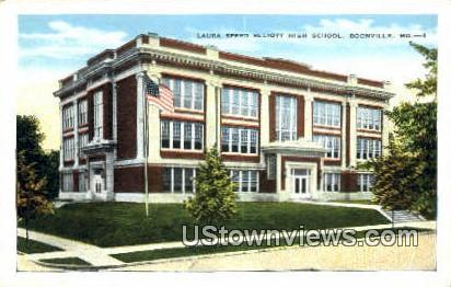 Laura Speed Elliott High School - Boonville, Missouri MO Postcard